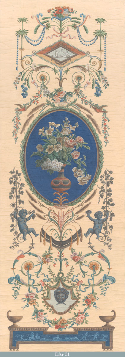 Английские обои Iksel,  коллекция Scenic & Architectural Wallpapers, артикулDirectoireArabesquesDAr01