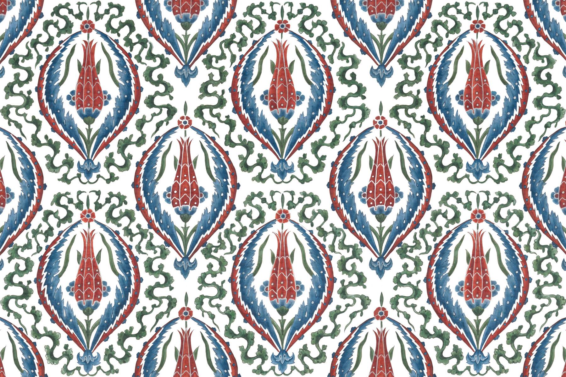 Английские обои Iksel,  коллекция Scenic & Architectural Wallpapers, артикулIznikCollectionTULIP