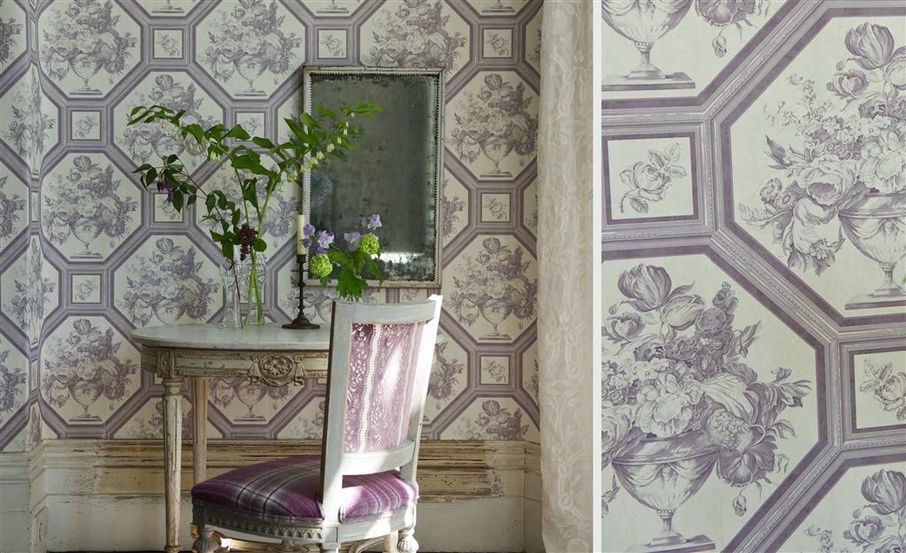 Английские обои Designers guild,  коллекция The Royal Collection - Rosa Chinensis, артикулPQ010/08