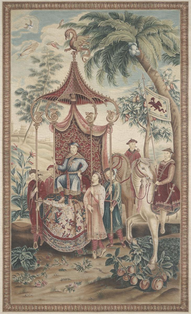 Английские обои Iksel,  коллекция Scenic & Architectural Wallpapers, артикулChineseTapestriesTAP4