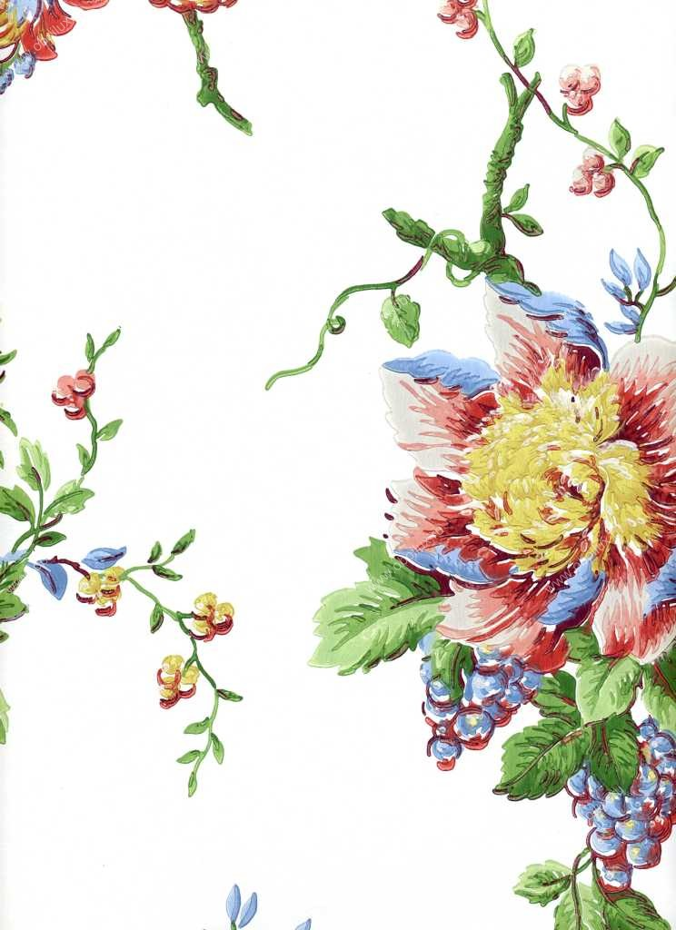 Американские обои York,  коллекция Ashford House - Flowers S.E., артикулDL0600