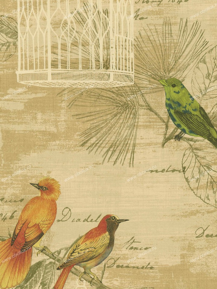 Американские обои Wallquest,  коллекция Villa Flora, артикулVB10201