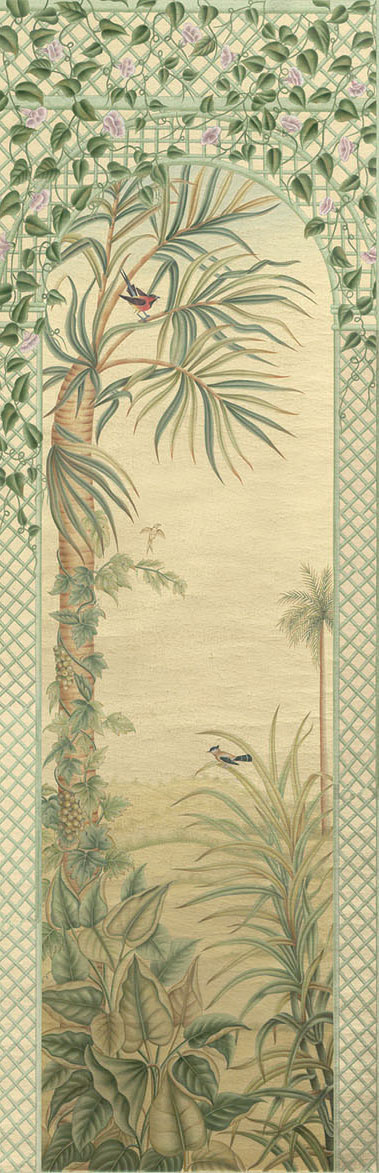 Английские обои Iksel,  коллекция Scenic & Architectural Wallpapers, артикулTreillisExoticaTRLS03
