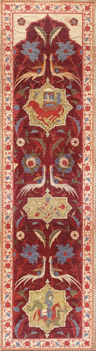 Английские обои Iksel,  коллекция Scenic & Architectural Wallpapers, артикулAleppoRedALRED14