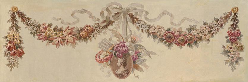 Английские обои Iksel,  коллекция Scenic & Architectural Wallpapers, артикул19thCentGarlandsGar3