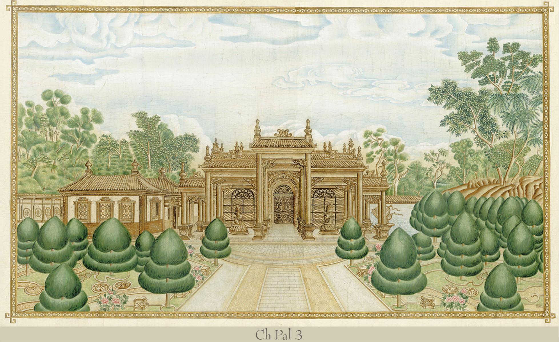 Английские обои Iksel,  коллекция Scenic & Architectural Wallpapers, артикулChinesePalacesCHPAL3