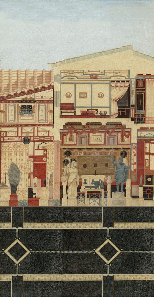 Английские обои Iksel,  коллекция Scenic & Architectural Wallpapers, артикулRomanVillaROMVIL04
