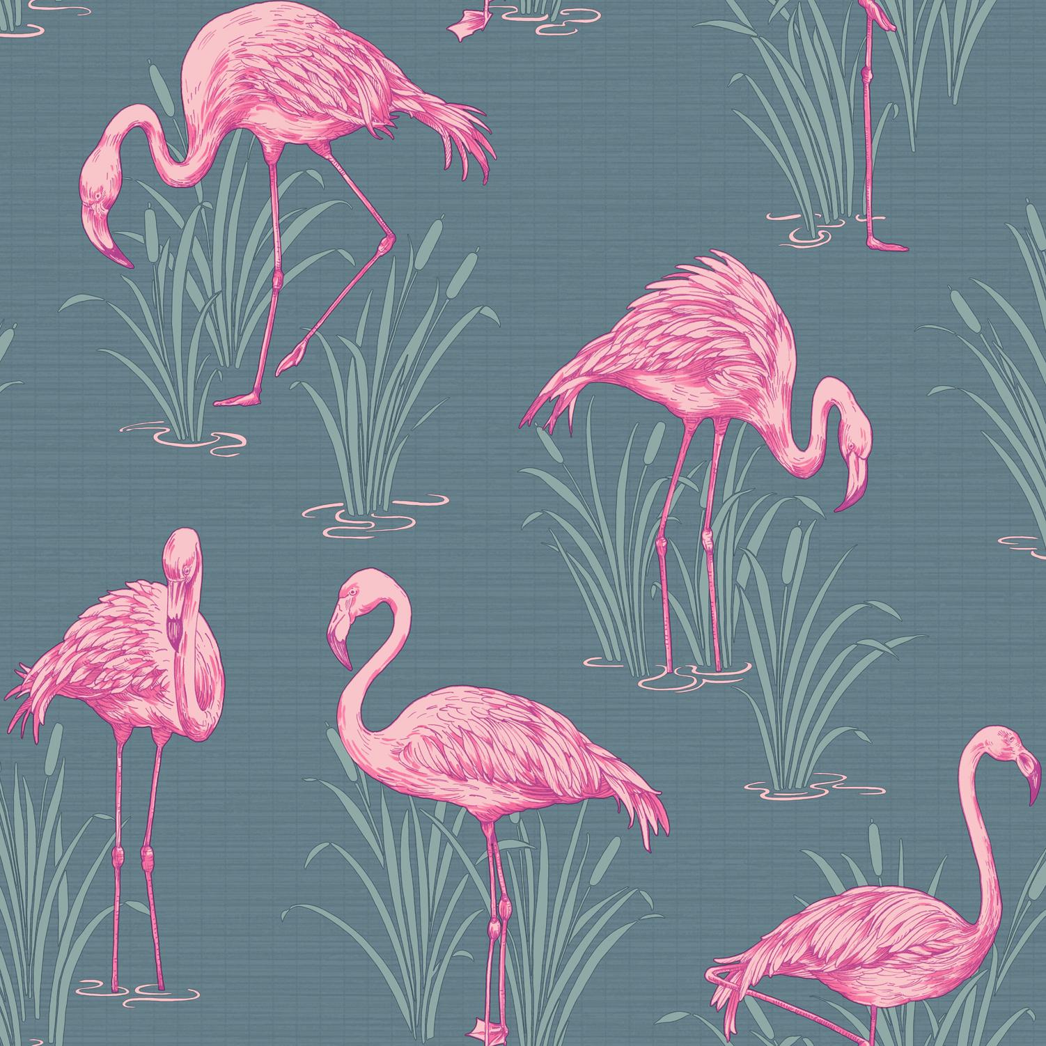 обои с фламинго для стен леруа мерлен чтоб